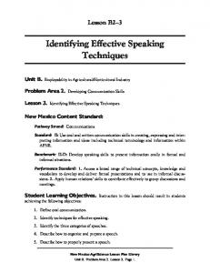 Identifying Effective Speaking Techniques