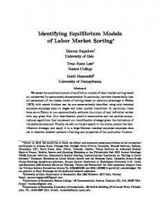 Identifying Equilibrium Models of Labor Market Sorting