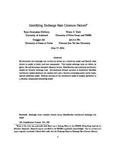 Identifying Exchange Rate Common Factors