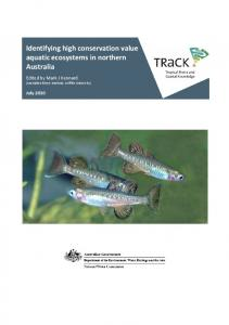 Identifying high conservation value aquatic ecosystems in northern Australia