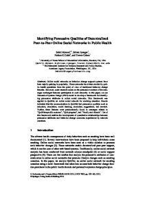 Identifying Persuasive Qualities of Decentralized Peer-to-Peer Online Social Networks in Public Health