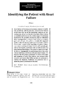 Identifying the Patient with Heart Failure