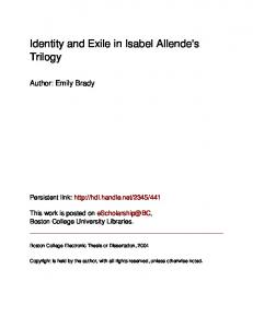 Identity and Exile in Isabel Allende's Trilogy