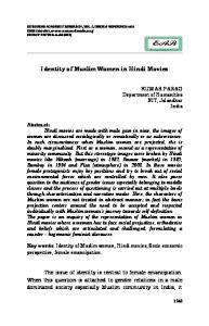 Identity of Muslim Women in Hindi Movies