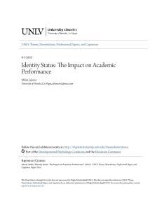 Identity Status: The Impact on Academic Performance