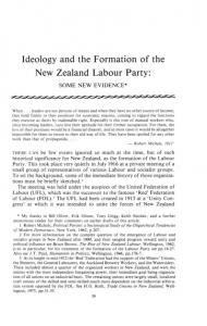 Ideology and the Formation of the New Zealand Labour Party: