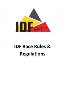 IDF Race Rules & Regulations
