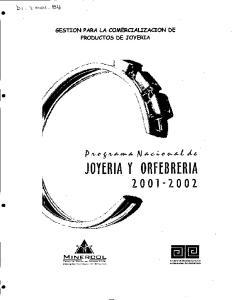 idii JOYERIA y ORFEBRERIA ', b ( - GESTION PARA LA COMERCIAUZACION DE PRODUCTOS DE JOYERIA MINERCDL E. p