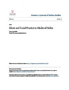 Idiom and Social Practice in Medieval Nubia