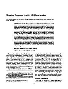 Idiopathic Transverse Myelitis: MR Characteristics