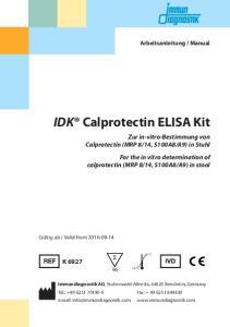 IDK Calprotectin ELISA Kit