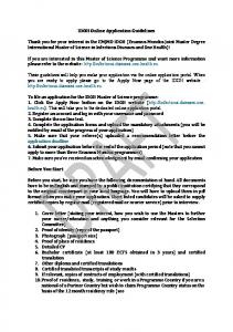 IDOH Online Application Guidelines