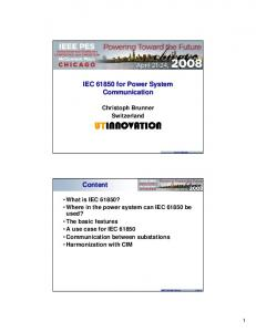 IEC for Power System Communication