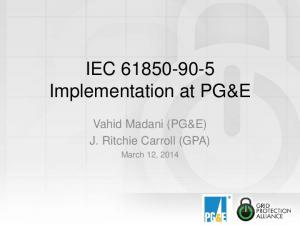 IEC Implementation at PG&E