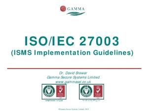 IEC (ISMS Implementation Guidelines)