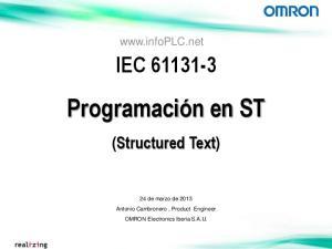 IEC Programación en ST (Structured Text)