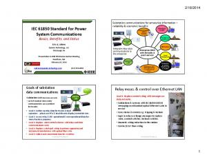 IEC Standard for Power System Communications Basics, Benefits, and Status