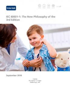 IEC : The New Philosophy of the 3rd Edition September 2010