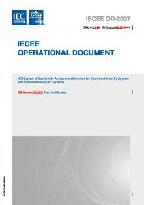 IECEE OPERATIONAL DOCUMENT