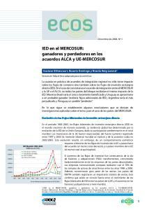 IED en el MERCOSUR: ganadores y perdedores en los acuerdos ALCA y UE-MERCOSUR