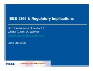 IEEE 1366 & Regulatory Implications