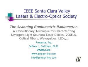 IEEE Santa Clara Valley Lasers & Electro-Optics Society