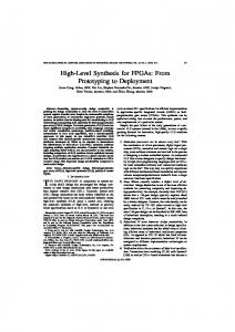 IEEE TRANSACTIONS ON COMPUTER-AIDED DESIGN OF INTEGRATED CIRCUITS AND SYSTEMS, VOL. 30, NO. 4, APRIL