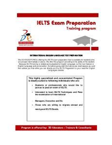 IELTS Exam Preparation Training program