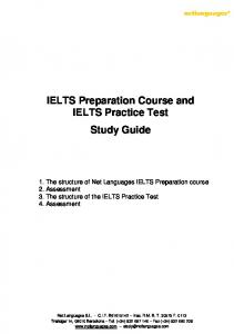 IELTS Preparation Course and IELTS Practice Test Study Guide