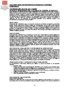 I.E.S CARPE DIEM. DEPARTAMENTO DE GEOGRAFIA E HISTORIA
