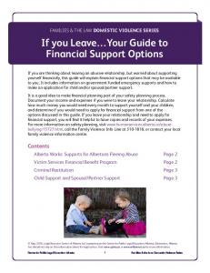 If you Leave Your Guide to Financial Support Options