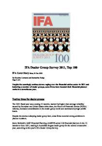 IFA Dealer Group Survey 2011, Top 100