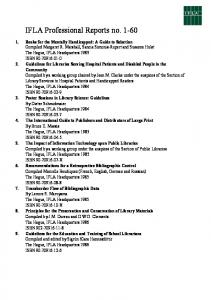 IFLA Professional Reports no. 1-60