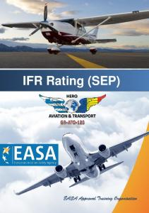 IFR Rating (SEP) EASA Approved Training Organisation