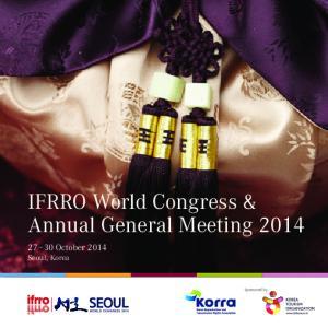 IFRRO World Congress & Annual General Meeting 2014