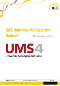 IGEL Universal Management Suite v4. Benutzerhandbuch