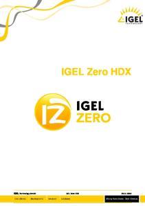 IGEL Zero HDX IGEL Technology GmbH IGEL Zero HDX