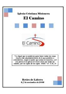 Iglesia Cristiana Misionera El Camino. Iglesia Cristiana Misionera. El Camino