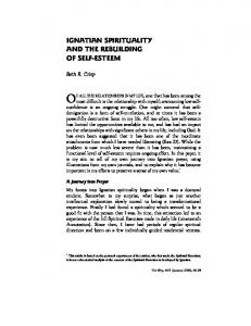 IGNATIAN SPIRITUALITY AND THE REBUILDING OF SELF-ESTEEM