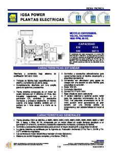 IGSA POWER PLANTAS ELECTRICAS