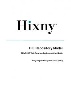 IHE Web Services Implementation Guide. Hixny Project Management Office (PMO)