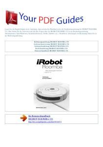 Ihr Benutzerhandbuch IROBOT ROOMBA 531