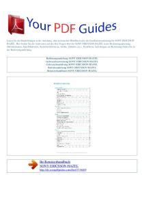 Ihr Benutzerhandbuch SONY ERICSSON HAZEL