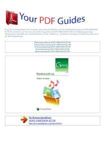 Ihr Benutzerhandbuch SONY ERICSSON K770I