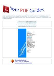 Ihr Benutzerhandbuch SONY ERICSSON R320S