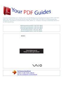 Ihr Benutzerhandbuch SONY VAIO VGN-AR61S