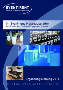 Ihr Event- und Messeausstatter Your Event- and Exhibition-Equipment Provider