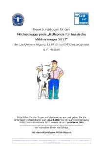 Ihr Innovationsteam Milch Hessen