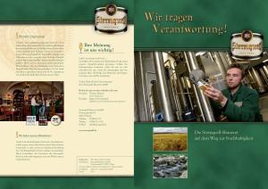 Ihre Meinung ist uns wichtig! Die Sternquell-Brauerei auf dem Weg zur Nachhaltigkeit. Wir tragen Verantwortung!