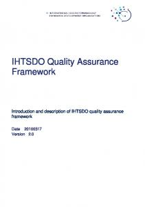 IHTSDO Quality Assurance Framework